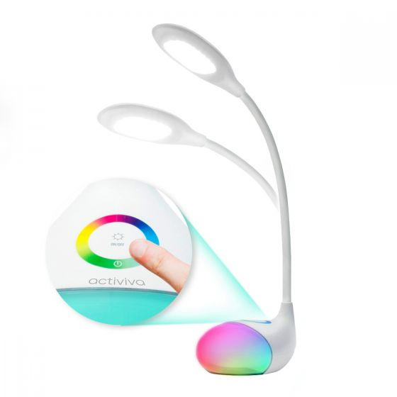 ACTIVIVA LED Desk Lamp With RGB Colour Changing Edge Light