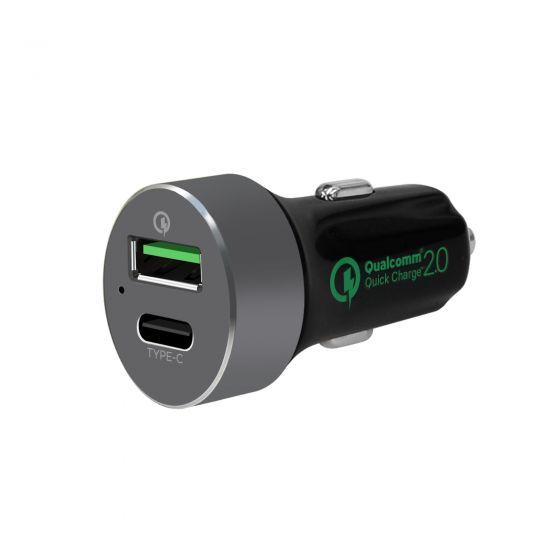 QuickBoost C Dual Port QC 2.0 & USB-C Car Charger