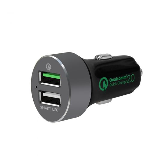 QuickBoost S Dual Port QC 2.0 USB Car Charger