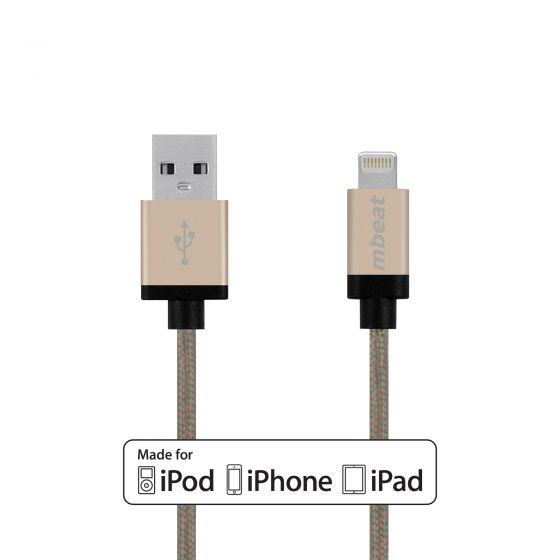 MFI 2m Lightning to USB Cable-Gold