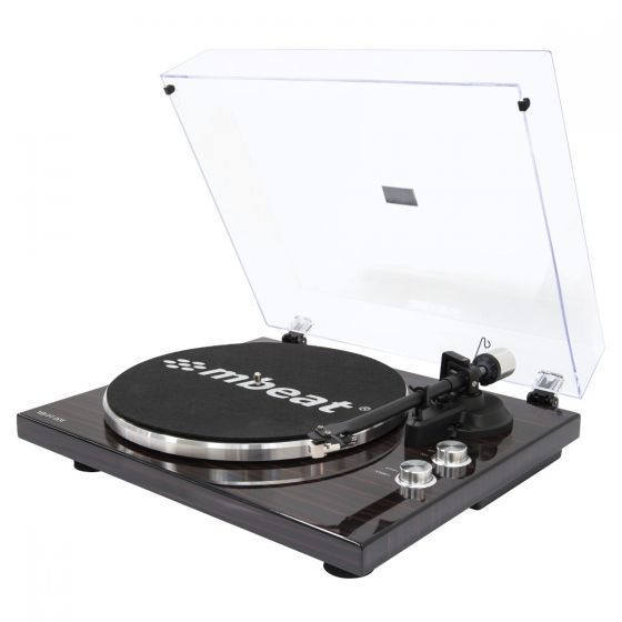 Hi-Fi Turntable Player with Bluetooth - Dark Wood