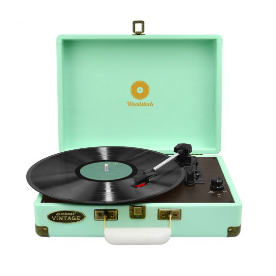 Woodstock Retro Turntable Player