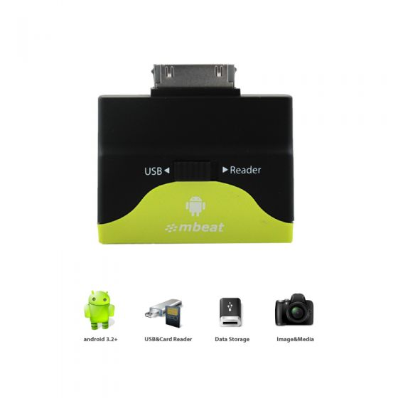USB OTG Reader and Hub for Galaxy Tab 2 & Note 10.1(30 Pin Type)