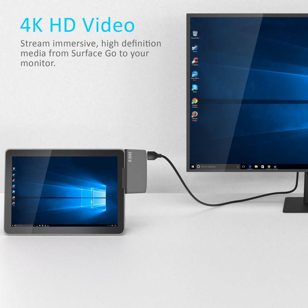 Edge Go Multifunction USB- C Hub for Microsoft Surface Go Tablet