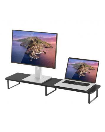 activiva Black Dual Monitor Riser