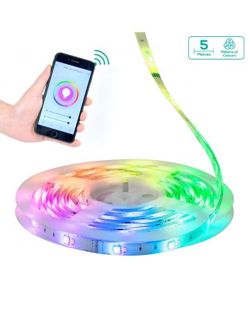 activiva 5m IP65 Smart RGB & Warm White LED Strip Lights