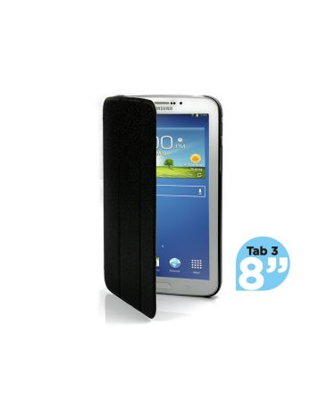 Ultra Slim Case Cover for Galaxy Tab 3 8 Inch-Black-1 Unit