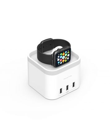 PowerTime  Apple Watch Charging Dock with 3 Extra Smart Charging Ports