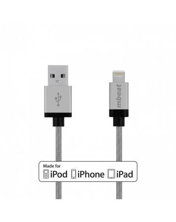 MFI 2m Lightning to USB Cable-Silver