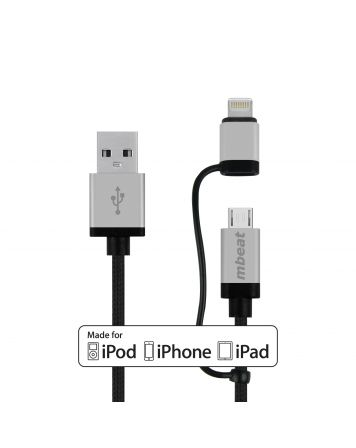 2-In-1 MFI Lightning and Micro USB Cable (1M)