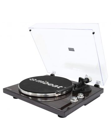 Hi-Fi Bluetooth Turntable - Dark Wood