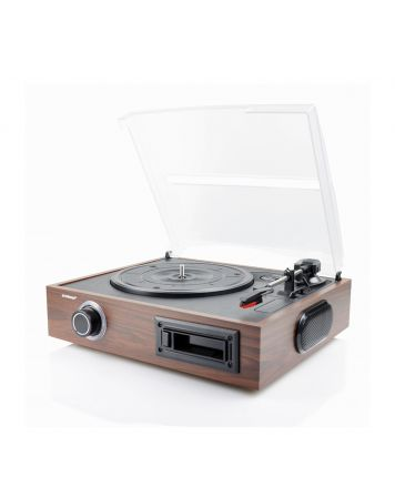 Retro USB Turntable and Cassette Record Player