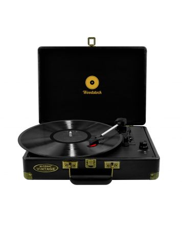 Woodstock Retro Turntable Player-Black