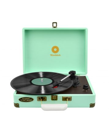 Woodstock Retro Turntable Player-Tiffany Blue