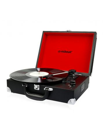 Retro Briefcase-styled USB Turntable Player